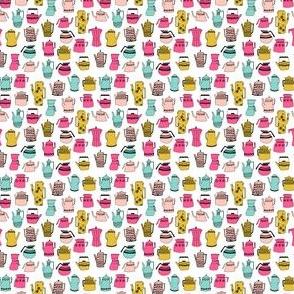 tea party // cute teapots tea sweet little girls tiny tea pots fabric for doll clothes sweet teapots
