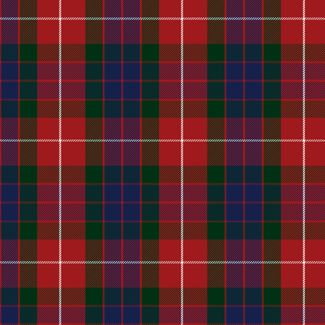 Fraser red tartan fabric by weavingmajor on Spoonflower - custom fabric