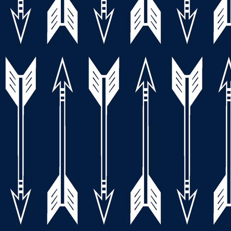 arrows // navy (large scale) - Northern Lights Collection fabric by littlearrowdesign on Spoonflower - custom fabric