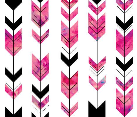 Watercolor arrows // wild and free fabric by littlearrowdesign on Spoonflower - custom fabric