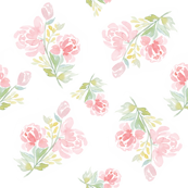 Watercolor Floral Peonies for Alice