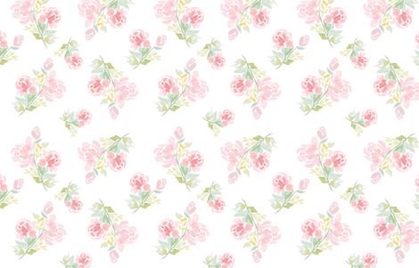 Watercolor Floral Peonies for Alice fabric by nataliemalan on Spoonflower - custom fabric