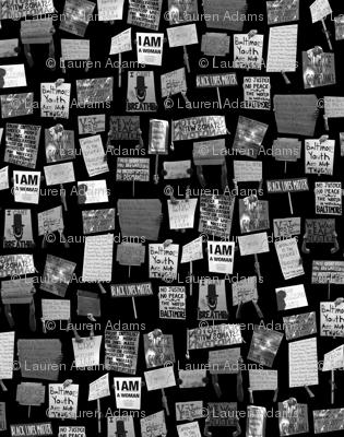 Baltimore Uprising Pattern B&W