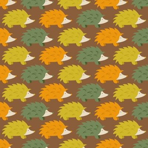 Autumn Hedgehog Parade (Dark)