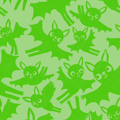 Halloween Bats in Ghoul fabric by heidikenney on Spoonflower - custom fabric