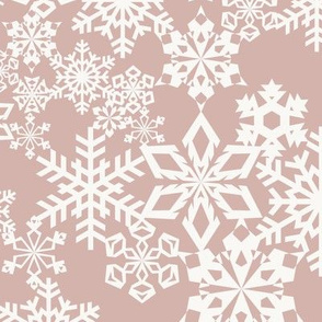 Snowflakes - Old Pink