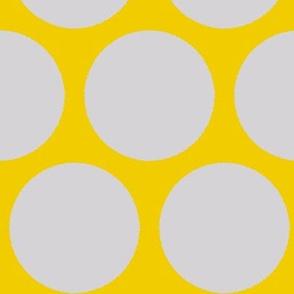 Polka dots-mustard