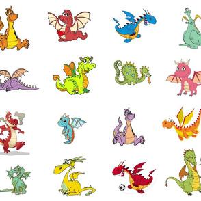 "Dragons 5"" quilt blocks"