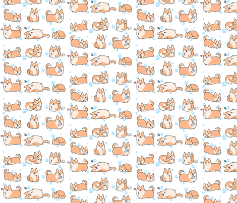 I love corgis ! fabric by miss_holly on Spoonflower - custom fabric