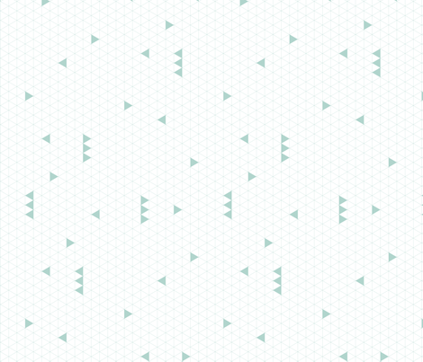 Triangle Grid - Mint fabric by kimsa on Spoonflower - custom fabric