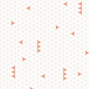 Triangle Grid - Coral