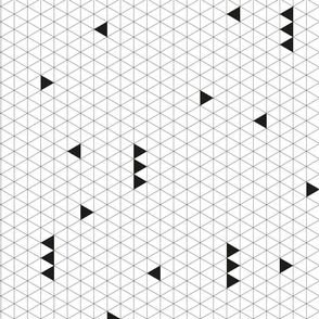 Triangle Grid - Black
