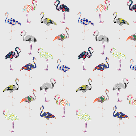 Flamingo fabric by sofie_holdsworth on Spoonflower - custom fabric
