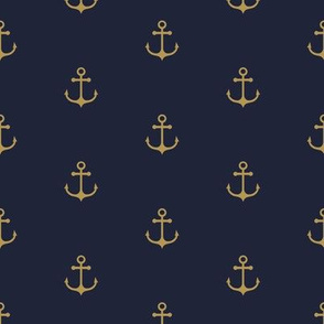 Anchor - Gold Navy