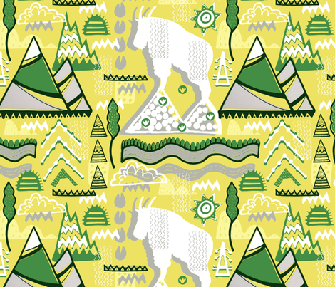 A Mountain Goat's Progress. fabric by slumbermonkey on Spoonflower - custom fabric