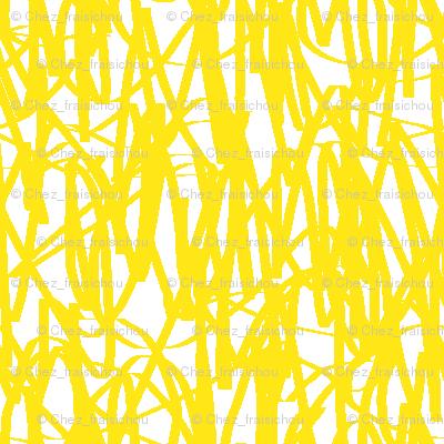 Yellow graffiti / scrawl-ch