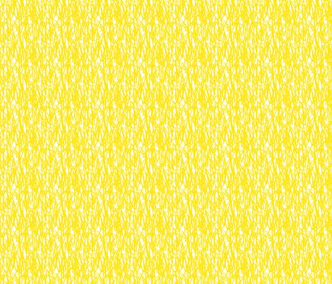 Yellow graffiti / scrawl-ch fabric by chez_fraisichou on Spoonflower - custom fabric