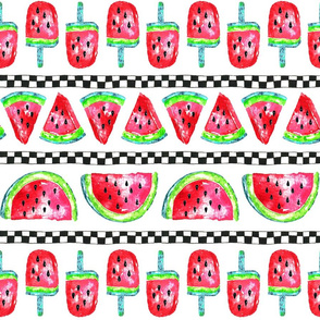 Summer Watermelon Stripe