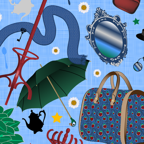Mary Poppins Bag fabric by vannina on Spoonflower - custom fabric