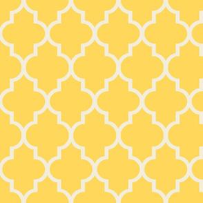Lemon Cream Quatrefoil
