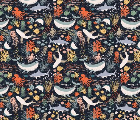 Marine Life fabric by shelbyallison on Spoonflower - custom fabric