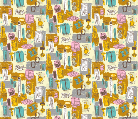 What's in your bag? fabric by skbird on Spoonflower - custom fabric