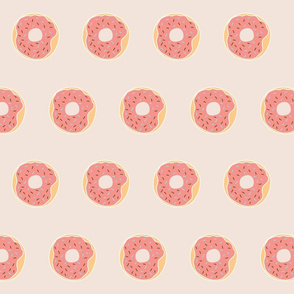 Strawberry Donut Fabric Design