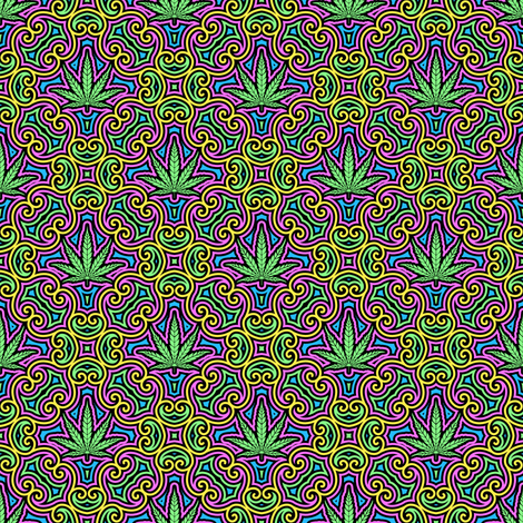 Sweet Leaf 2 Color- Small fabric by shala on Spoonflower - custom fabric