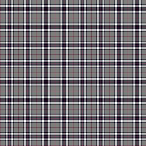 "1"" mini Thomson / Thompson tartan - grey fabric by weavingmajor on Spoonflower - custom fabric"