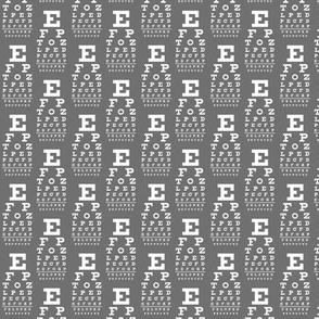 mini vision chart, white on neutral grey