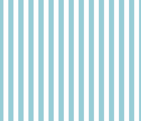 Nautical Stripe beach teal fabric by colour_angel_by_kv on Spoonflower - custom fabric