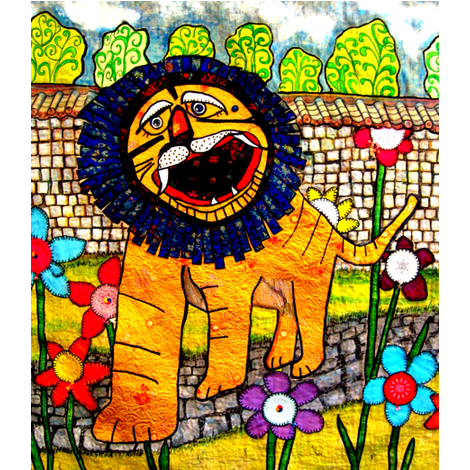 Mr. Lion fabric by frances_hollidayalford on Spoonflower - custom fabric