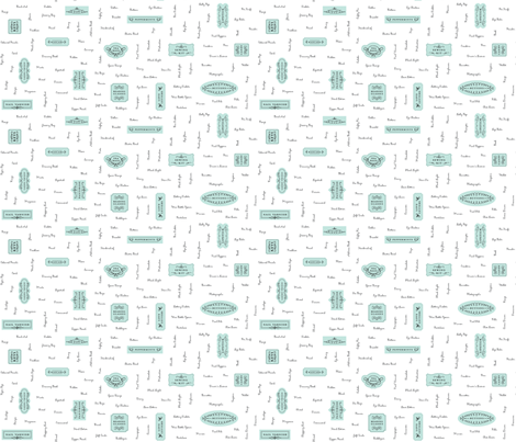 Purse Paraphernalia - AQUA fabric by happysewlucky on Spoonflower - custom fabric
