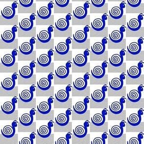 Blue Snails on Silver Sand