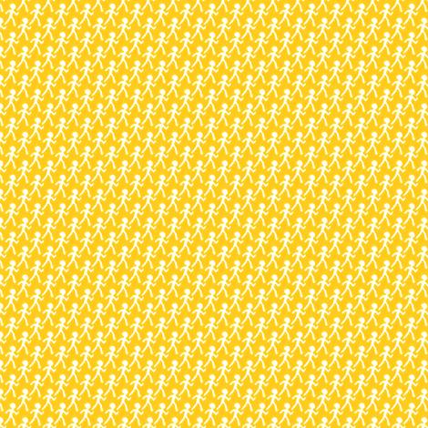 Walk - Yellow fabric by siya on Spoonflower - custom fabric