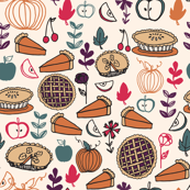 Pie (Tiny Version) // thanksgiving pies pie food cute pies apple pie pumpkin pie