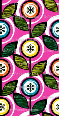 Footnote Flower (Pink) || midcentury modern garden floral flowers leaves nature spring summer