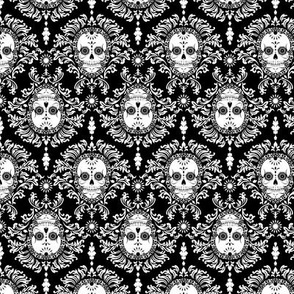 Dead Damask White on Black
