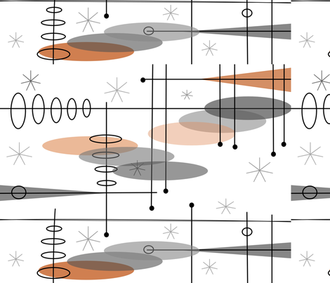 Mid-Century Modern Space Age fabric by hot4tees_bg@yahoo_com on Spoonflower - custom fabric