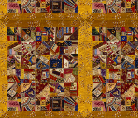 Crazy Quilt  fabric by peacoquettedesigns on Spoonflower - custom fabric