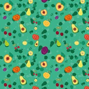 Fruts on Green