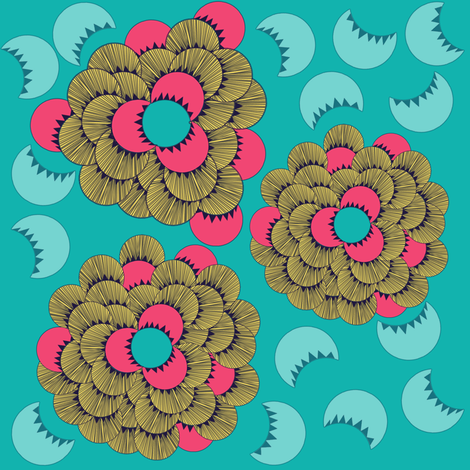Calypso fabric by sofie_holdsworth on Spoonflower - custom fabric