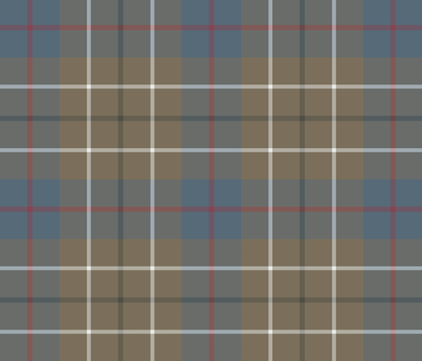 Duncan tartan - ancient weathered fabric by weavingmajor on Spoonflower - custom fabric