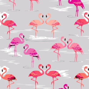 flamingos love silver