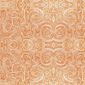 Orange Swirls