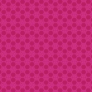 Hot Raspberry Hexies