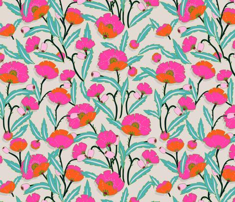 zebrini_floral_maffa fabric by holli_zollinger on Spoonflower - custom fabric