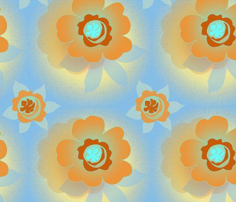 Orange_Flowers fabric by mammajamma on Spoonflower - custom fabric