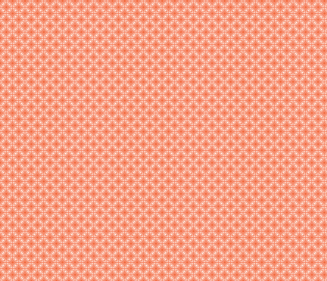 Milano coral fabric by arboreal on Spoonflower - custom fabric
