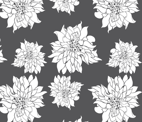 Villa Charcoal fabric by arboreal on Spoonflower - custom fabric